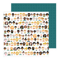 Pebbles - This Is Family Collection - 12 x 12 Double Sided Paper - We Are Family