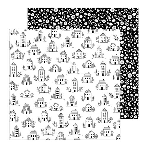 Pebbles - This Is Family Collection - 12 x 12 Double Sided Paper - Home Sweet Home