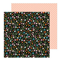 Pebbles - This Is Family Collection - 12 x 12 Double Sided Paper - Flower Patch