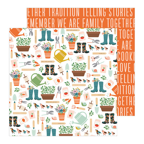 Pebbles - This Is Family Collection - 12 x 12 Double Sided Paper - Growing Together