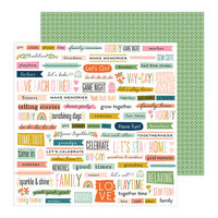 Pebbles - This Is Family Collection - 12 x 12 Double Sided Paper - Bits & Pieces