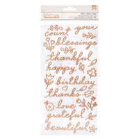 Pebbles - This Is Family Collection - Thickers - Phrase - Puffy - Copper Foil