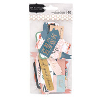 Pebbles - This Is Family Collection - Embellishments - Phrase Ephemera with Foil Accents