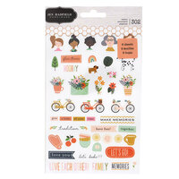 Pebbles - This Is Family Collection - Sticker Book with Copper Foil Accents