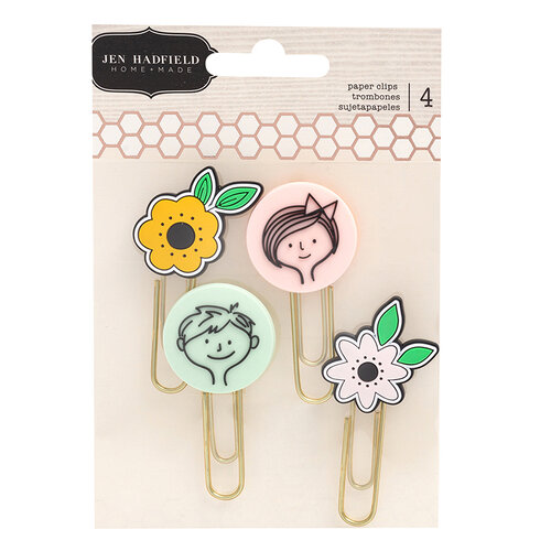 Pebbles - This Is Family Collection - Embellishments - Icon Paper Clips