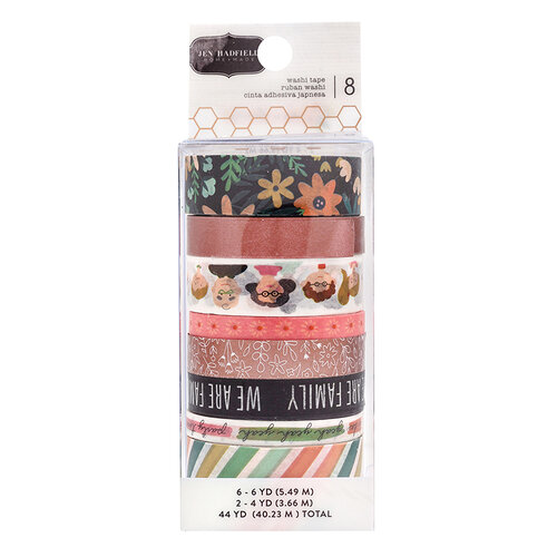 Jen Hadfield - This Is Family Collection - Washi Tape with Copper Foil Accents