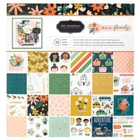 Jen Hadfield - This Is Family Collection - 12 x 12 Paper Pad With Copper Foil Accents