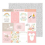 Pebbles - Peek-A-Boo You Collection - 12 x 12 Double Sided Paper - Girl - Follow Your Dreams