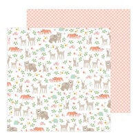 Pebbles - Peek-A-Boo You Collection - 12 x 12 Double Sided Paper - Girl - Woodland Adventure