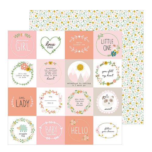 Pebbles - Peek-A-Boo You Collection - 12 x 12 Double Sided Paper - Girl - Little One