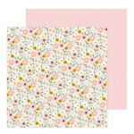 Pebbles - Peek-A-Boo You Collection - 12 x 12 Double Sided Paper - Girl - Woodland Floral