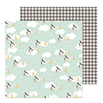 Pebbles - Peek-A-Boo You Collection - 12 x 12 Double Sided Paper - Girl - Special Delivery