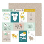 Pebbles - Peek-A-Boo You Collection - 12 x 12 Double Sided Paper - Boy - Adventure Calls