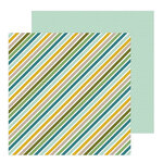 Pebbles - Peek-A-Boo You Collection - 12 x 12 Double Sided Paper - Boy - Jungle Strips