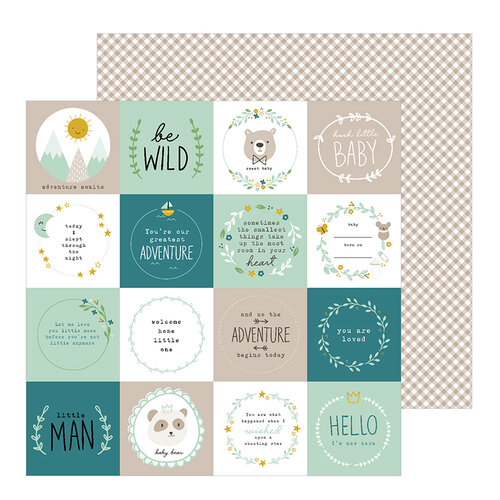Pebbles - Peek-A-Boo You Collection - 12 x 12 Double Sided Paper - Boy - Be Wild
