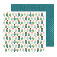 Pebbles - Peek-A-Boo You Collection - 12 x 12 Double Sided Paper - Boy - Baby Love Boy