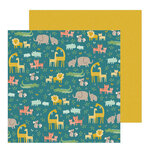 Pebbles - Peek-A-Boo You Collection - 12 x 12 Double Sided Paper - Boy - Jungle Adventure