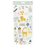 Pebbles - Peek-A-Boo You Collection -Stickers - 6 x 12 - Sticker Sheet - Boy