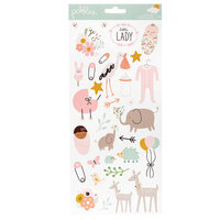 Pebbles - Peek-A-Boo You Collection -Stickers - 6 x 12 - Sticker Sheet - Girl