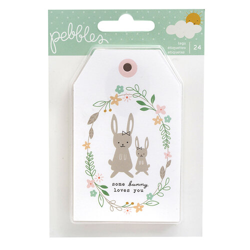 Pebbles - Peek-A-Boo You Collection - Tag Pad - Girl