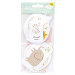 Pebbles - Peek-A-Boo You Collection - Ephemera - Girl - Embossed Accents