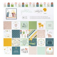 Pebbles - Peek-A-Boo You Collection - 12 x 12 Paper Pad - Boy