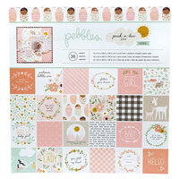 Pebbles - Peek-A-Boo You Collection - 12 x 12 Paper Pad - Girl