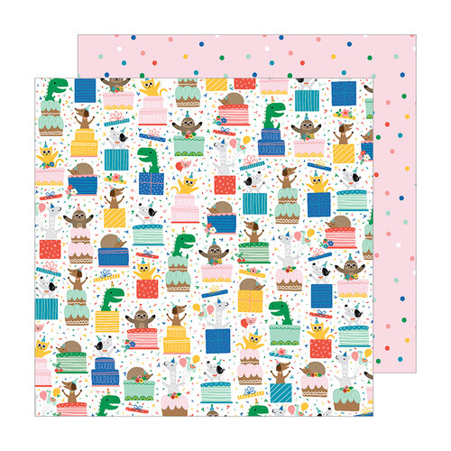 Pebbles - Happy Cake Day Collection - 12 x 12 Double Sided Paper - Surprise
