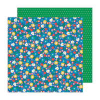Pebbles - Happy Cake Day Collection - 12 x 12 Double Sided Paper - Birthday Blossoms