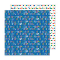 Pebbles - Happy Cake Day Collection - 12 x 12 Double Sided Paper - Hip Hip Hooray