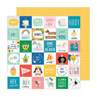 Pebbles - Happy Cake Day Collection - 12 x 12 Double Sided Paper - Birth-Yay