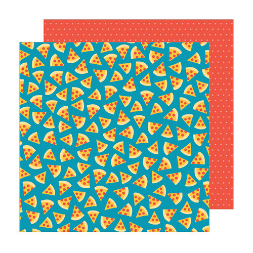 Pebbles - Happy Cake Day Collection - 12 x 12 Double Sided Paper - Pizza Party
