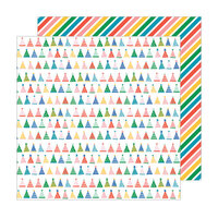 Pebbles - Happy Cake Day Collection - 12 x 12 Double Sided Paper - Party Hats