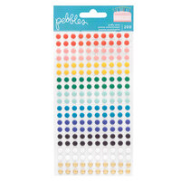 Pebbles - Happy Cake Day Collection - Puffy Dot Stickers with Foil Accents