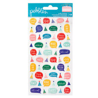 Pebbles - Happy Cake Day Collection - Puffy Stickers - Semi Glossy