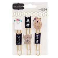 Pebbles - Hey, Hello Collection - Paper Clips with Foil Accents