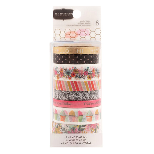 Pebbles - Hey, Hello Collection - Washi Tape with Foil Accents