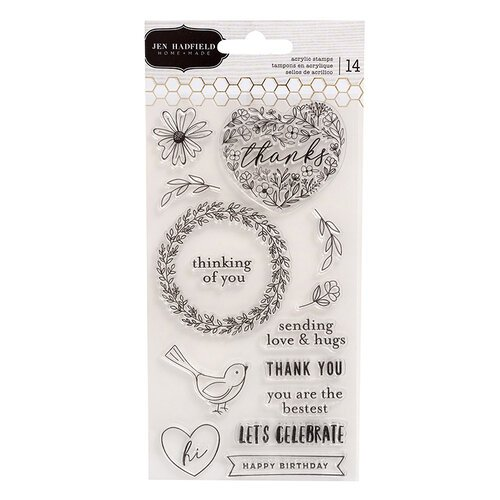 Pebbles - Hey, Hello Collection - Clear Acrylic Stamps