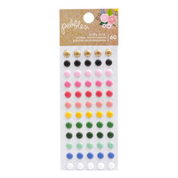 Pebbles - Lovely Moments Collection - Stickers - Puffy Dots with Foil Accents