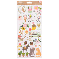 Pebbles - Lovely Moments Collection - 6 x 12 Cardstock Stickers with Foil Accents