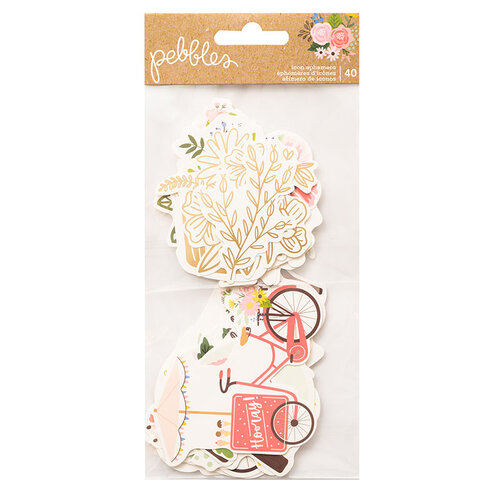 Pebbles - Lovely Moments Collection - Ephemera - Icons with Foil Accents