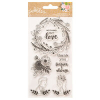 Pebbles - Lovely Moments Collection - Clear Acrylic Stamps