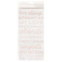 Pebbles - Lovely Moments Collection - Thickers - Phrase - Puffy