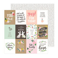 Pebbles - Lovely Moments Collection - 12 x 12 Double Sided Paper - Lovely Quotes