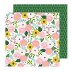 Pebbles - Lovely Moments Collection - 12 x 12 Double Sided Paper - Bouquet