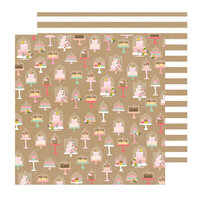 Pebbles - Lovely Moments Collection - 12 x 12 Double Sided Paper - Just Dessert