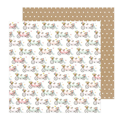 Pebbles - Lovely Moments Collection - 12 x 12 Double Sided Paper - Cruisin
