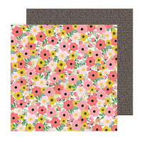 Pebbles - Lovely Moments Collection - 12 x 12 Double Sided Paper - Blooms
