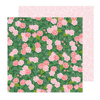 Pebbles - Lovely Moments Collection - 12 x 12 Double Sided Paper - Botanical Rose