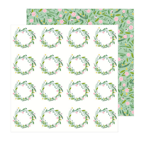 Pebbles - Lovely Moments Collection - 12 x 12 Double Sided Paper - Sprigs